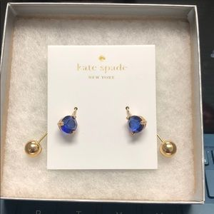 Kate Spade Blue and Gold Earrings